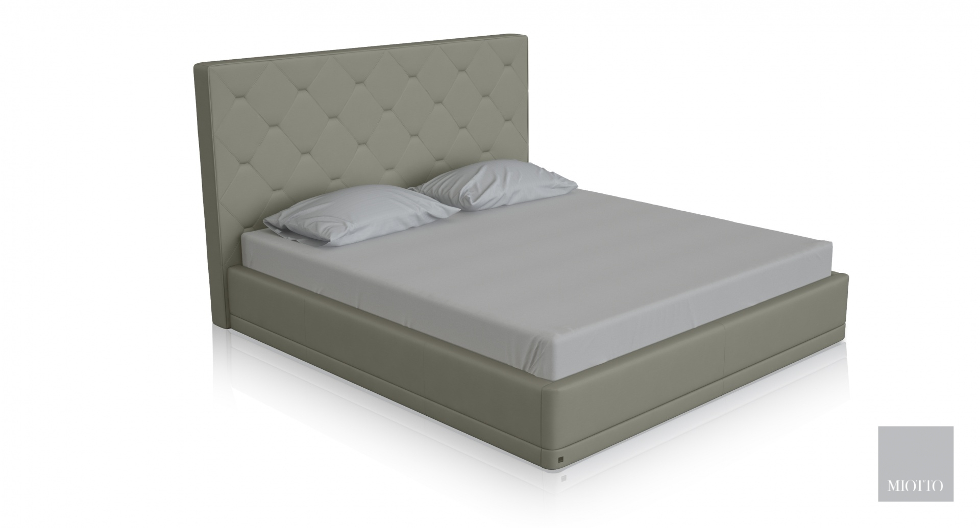 miotto_piana taupe leather bed T miottto design furniture