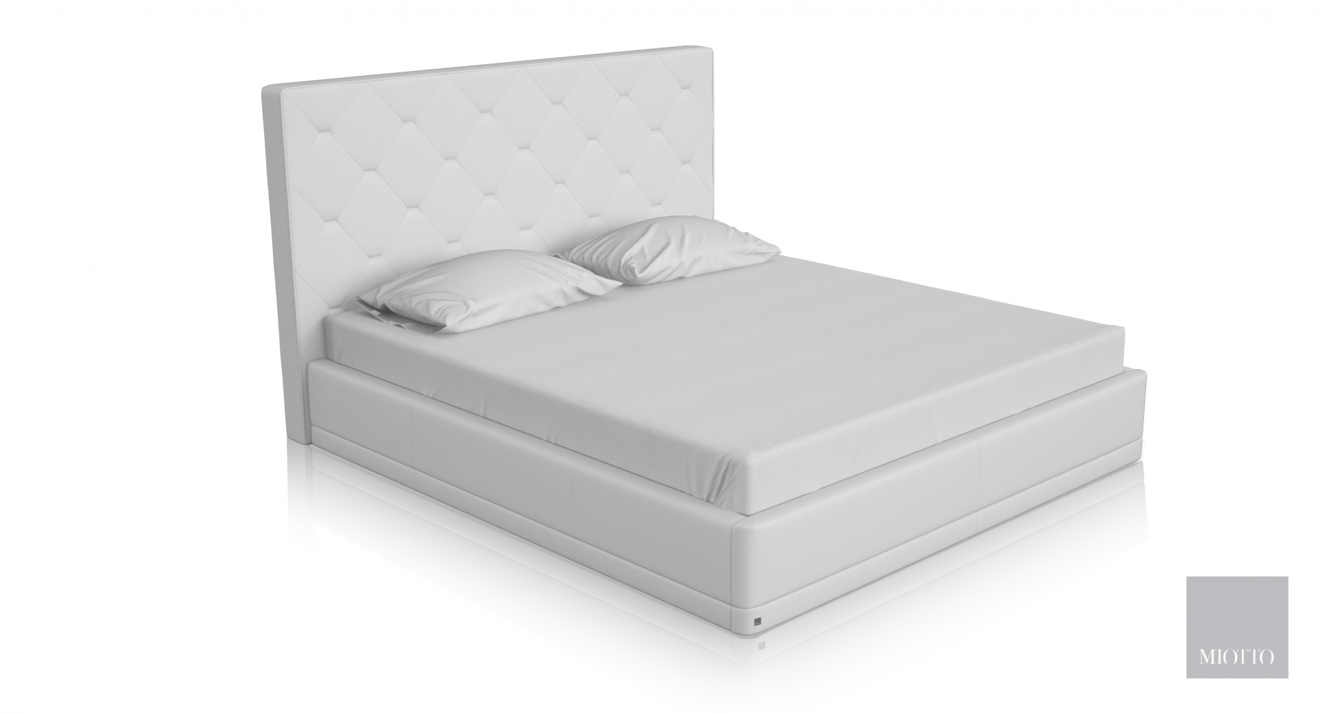 miotto_piana white leather bed T miottto design furniture