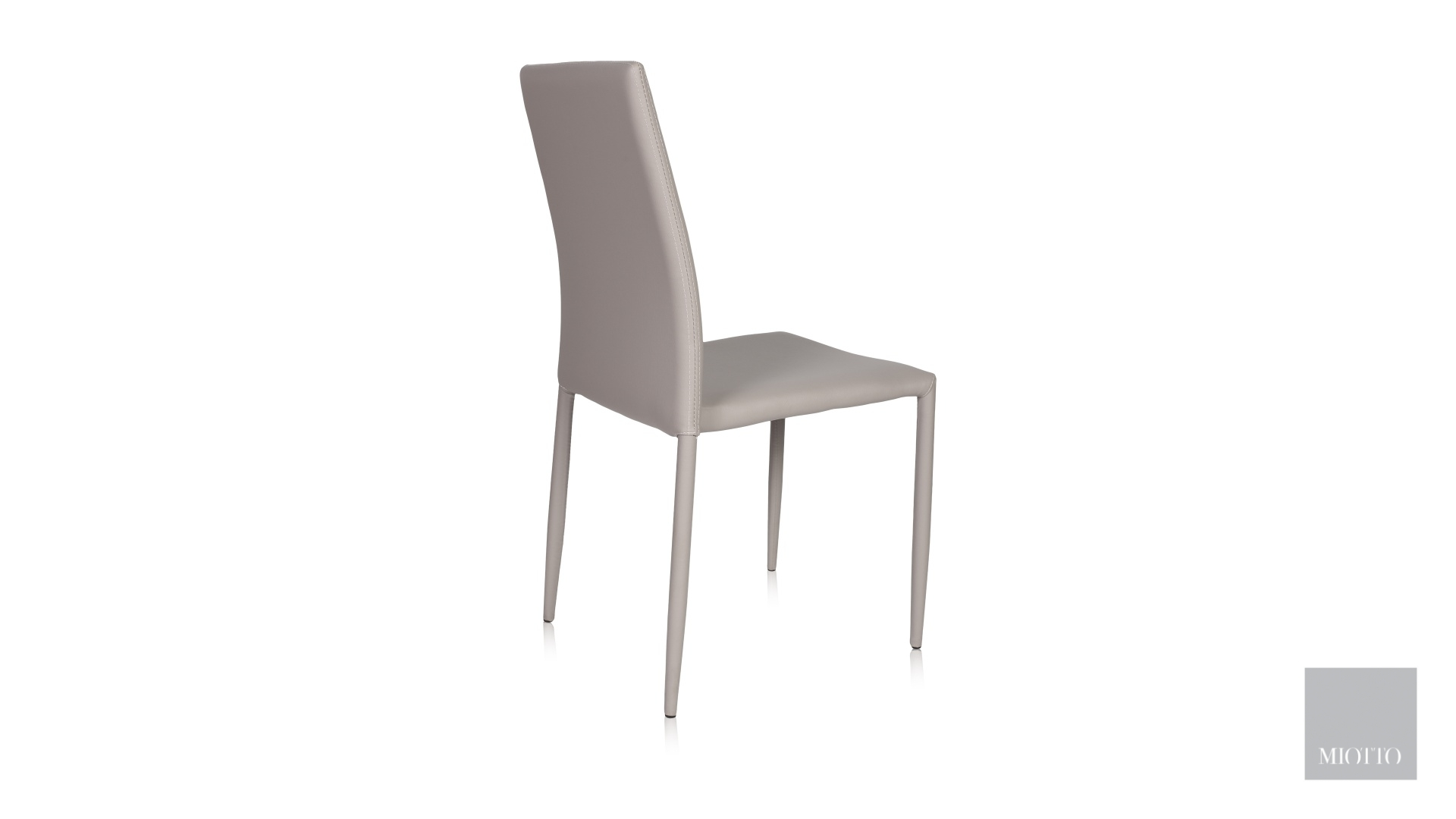 miotto_Lara dining chair pu light grey back miotto furniture