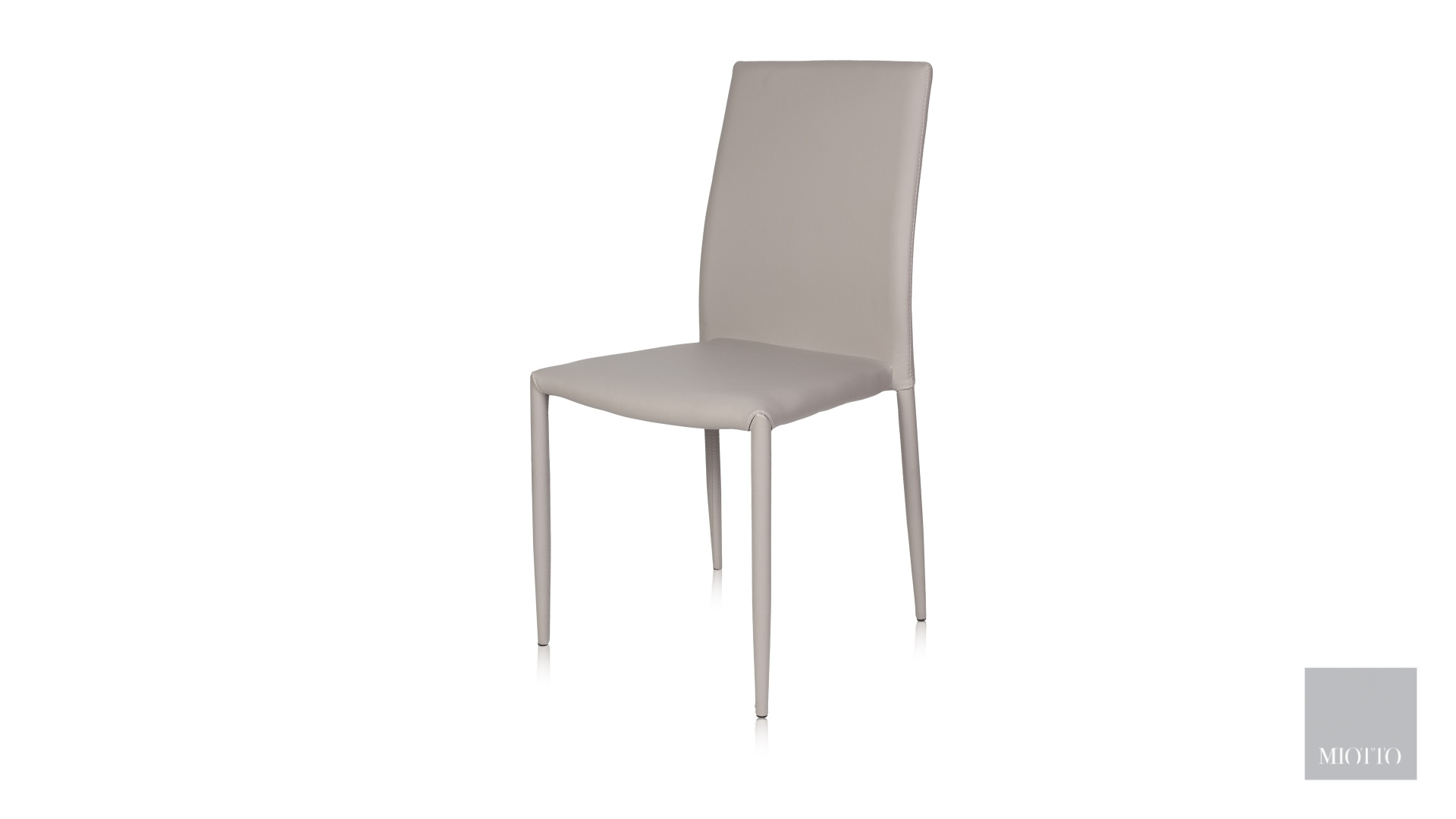 miotto_Lara dining chair pu light grey front miotto furniture