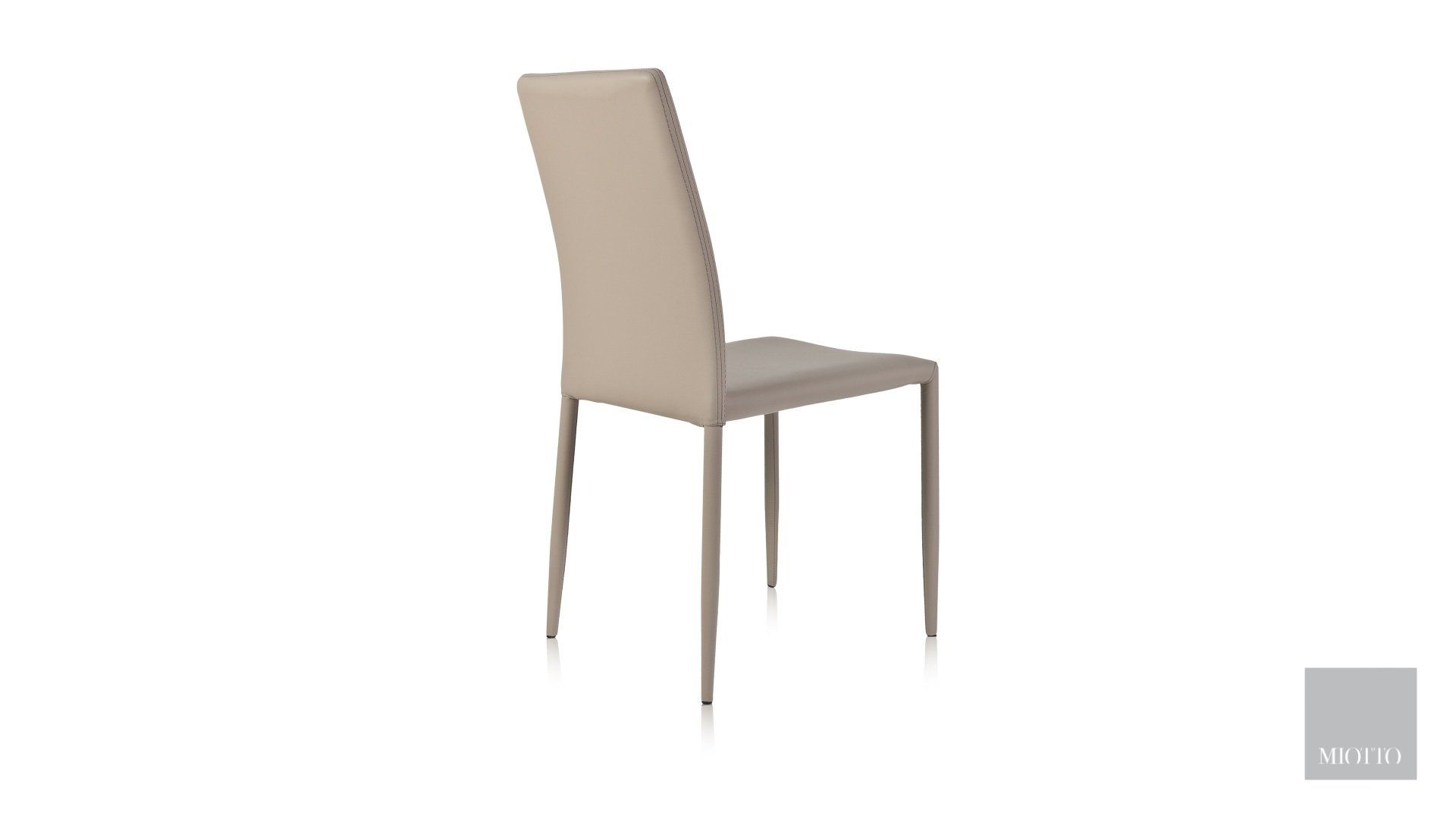 miotto_Lara dining chair pu taupe back miotto furniture