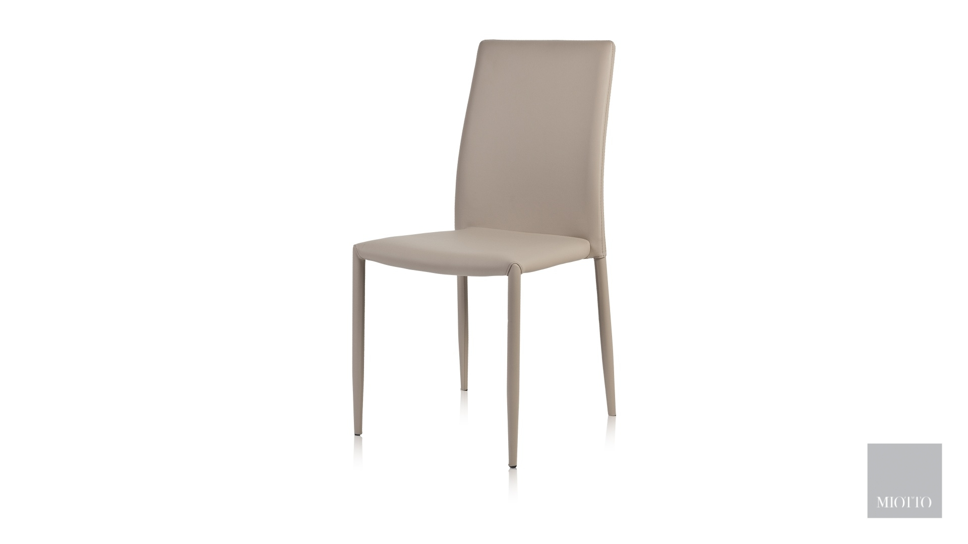 miotto_Lara dining chair pu taupe front miotto furniture