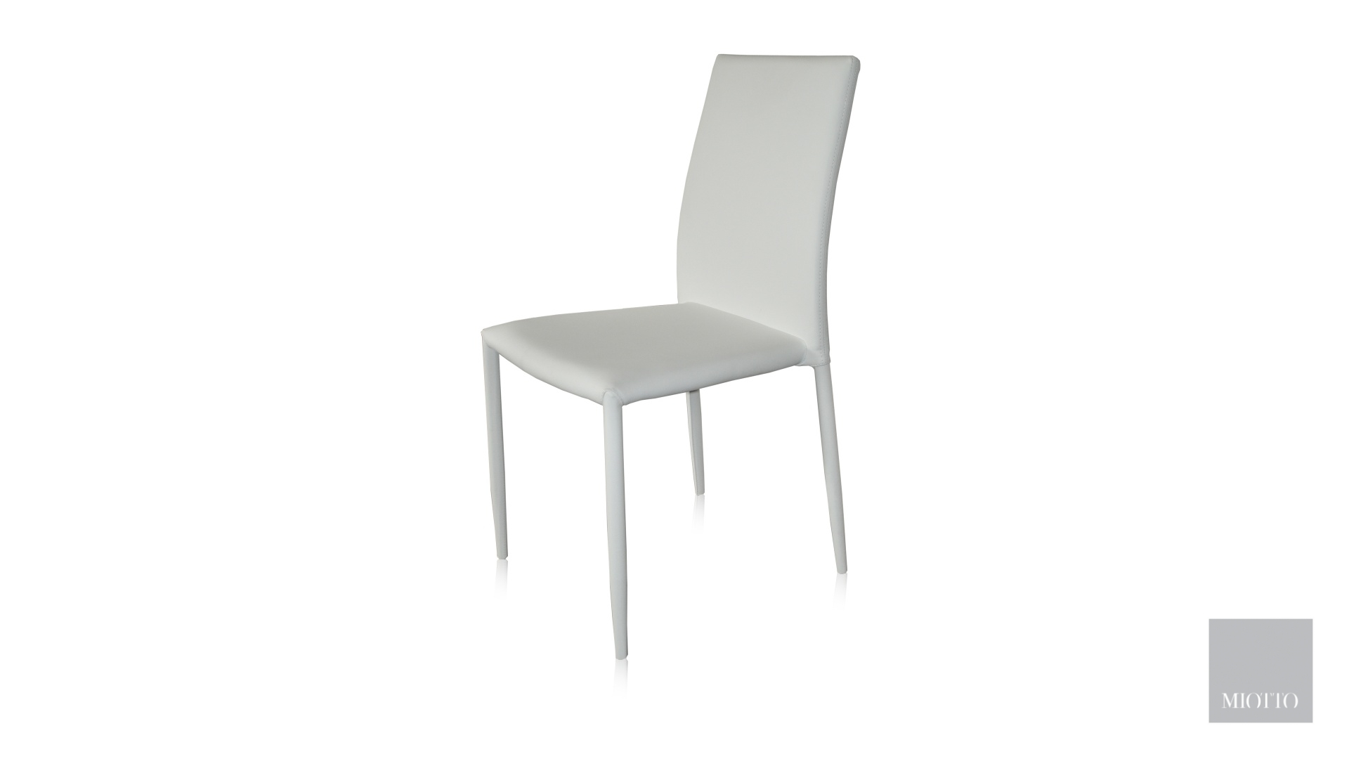 miotto_Lara dining chair pu white front miotto furniture