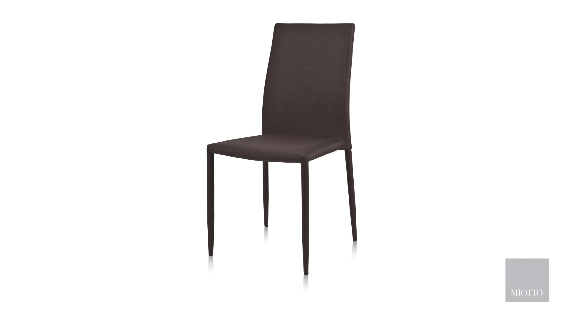 miotto_Lara fabric dining chair grey brown front miotto furniture