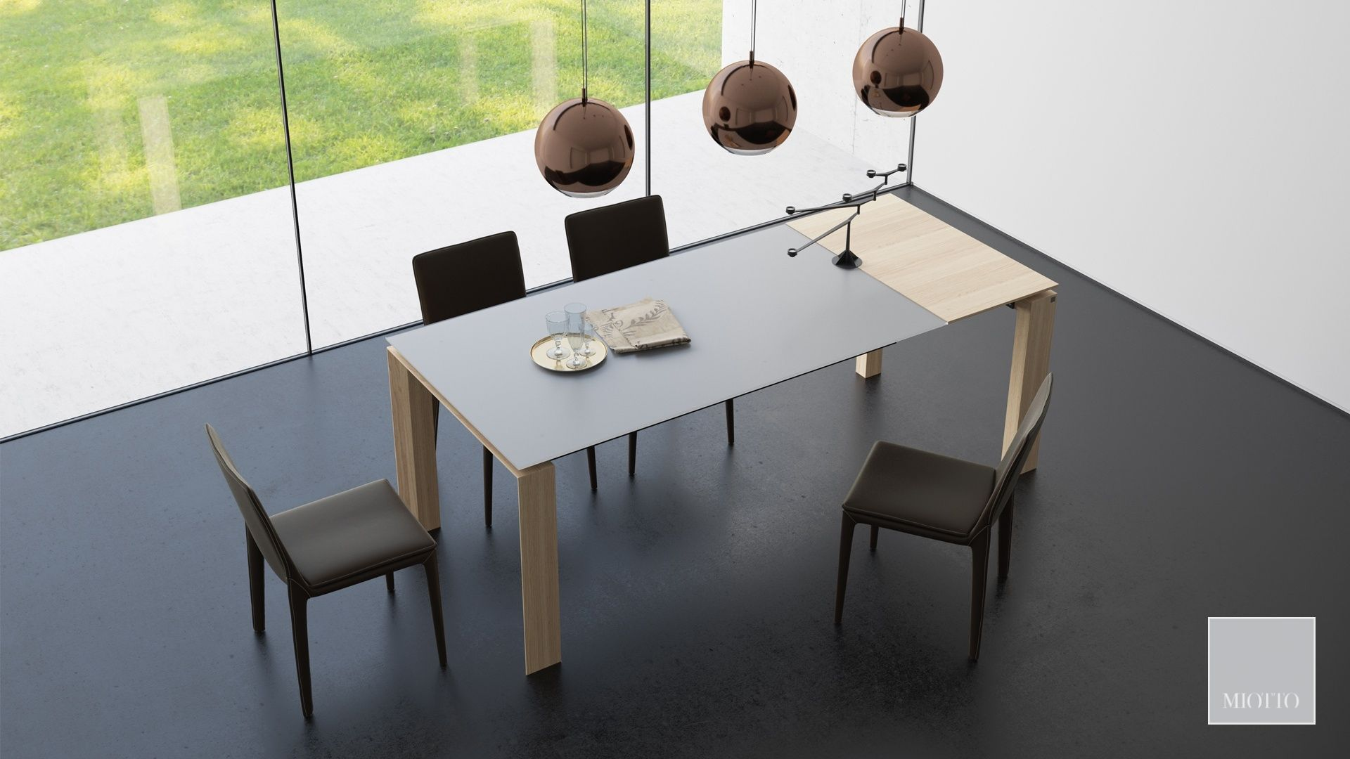 miotto_Parona light dining table torano dark brown dining chair royalia pendant lamp